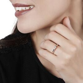 Bague Solitaire Alexandra Or Rose Diamant - Bagues solitaires Femme   Histoire d'Or