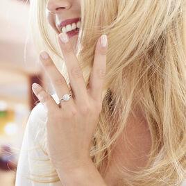 Bague Solitaire Karen Or Blanc Diamant Synthetique - Bagues avec pierre Femme | Histoire d'Or