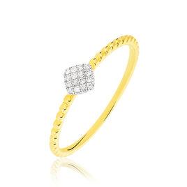 Bague Hanadi Or Jaune Diamant - Bagues avec pierre Femme | Histoire d'Or