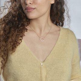 Collier Alysone Argent Rose Oxyde De Zirconium - Colliers fantaisie Femme   Histoire d'Or