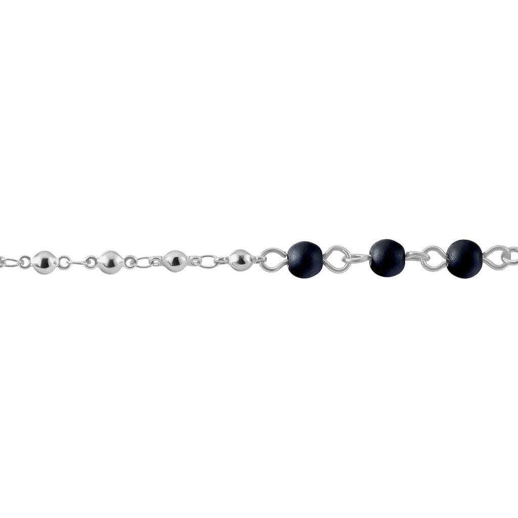 Bracelet Maximus Acier Blanc Onyx - Bracelets Croix Homme | Histoire d'Or