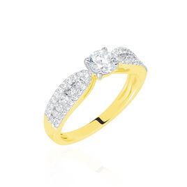 Bague Solitaire Stockholm Or Jaune Diamant Synthetique - Bagues avec pierre Femme | Histoire d'Or