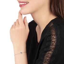 Bracelet Juliettina Or Blanc Saphir Et Diamant - Bijoux Femme | Histoire d'Or
