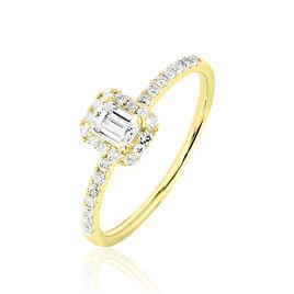 Bague Solitaire Barbara Or Jaune Diamant - Bagues avec pierre Femme   Histoire d'Or