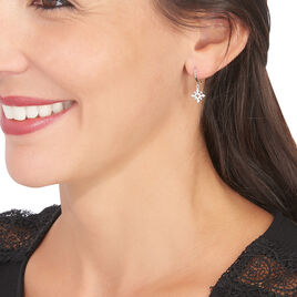 Boucles D'oreilles Puces Anea Or Blanc Diamant - Boucles d'oreilles pendantes Femme | Histoire d'Or