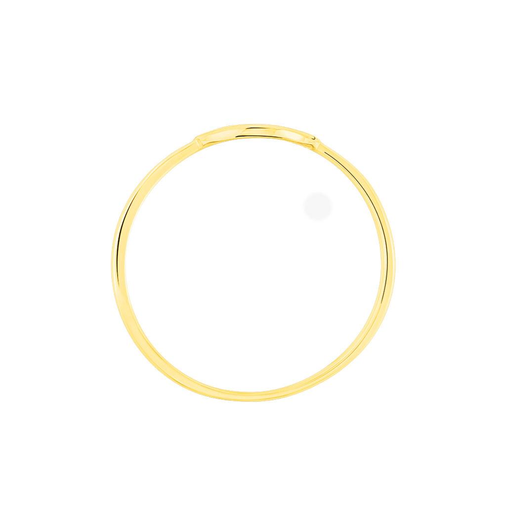 Bague Yrene Or Jaune Oxyde De Zirconium - Bagues avec pierre Femme | Histoire d'Or
