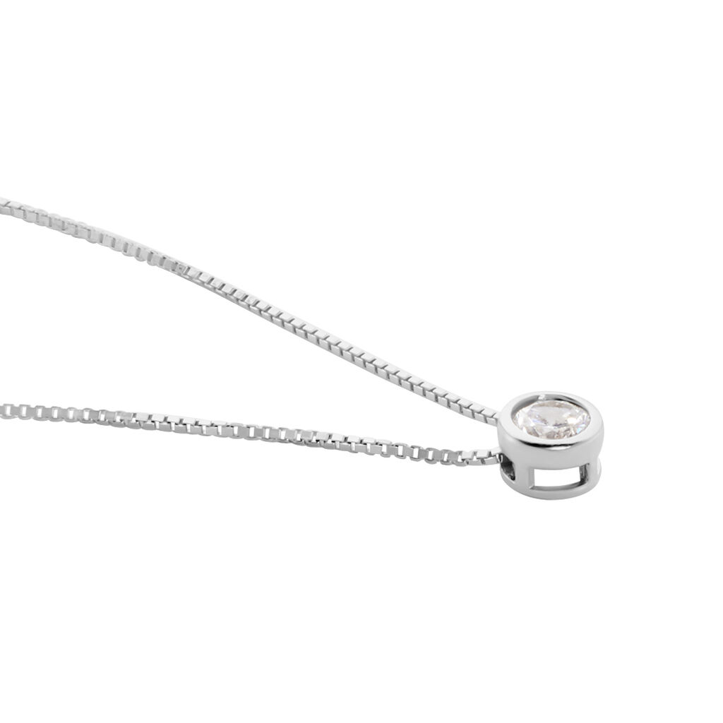 Collier Germinie Argent Blanc Oxyde De Zirconium - Colliers fantaisie Femme   Histoire d'Or