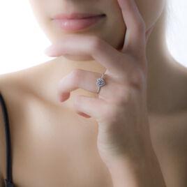Bague Neryssa Argent Blanc Oxyde De Zirconium - Bagues Coeur Femme | Histoire d'Or