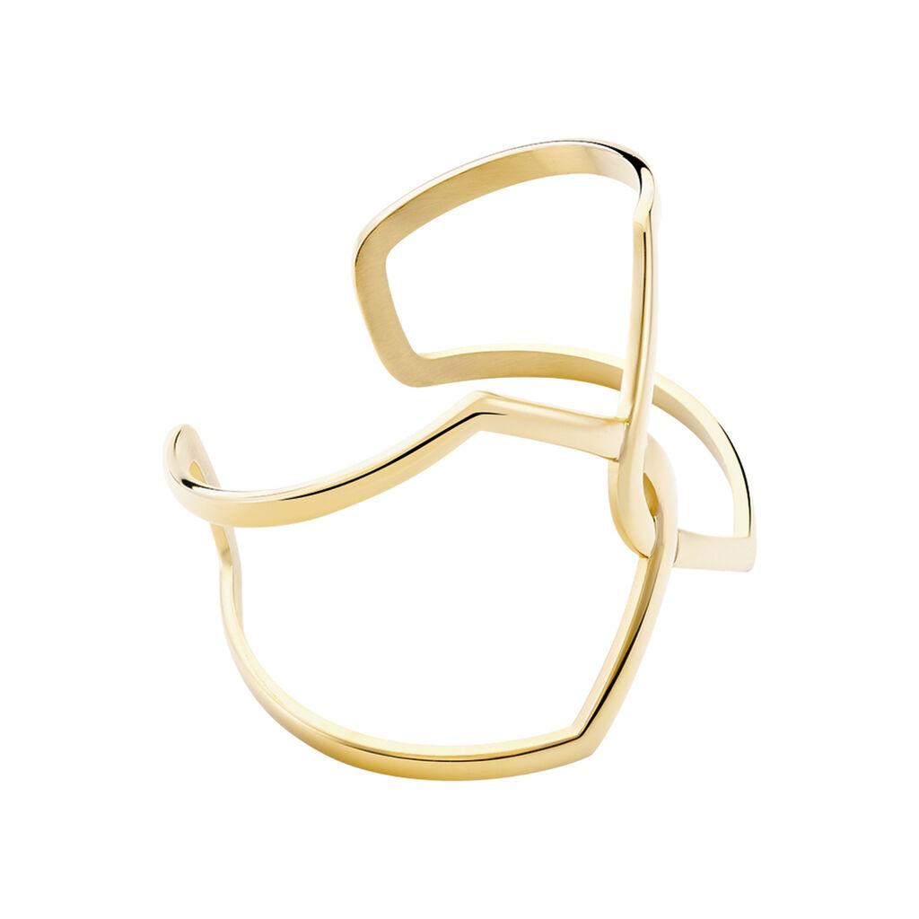 Bracelet Jonc Adelind Acier Jaune - Bracelets fantaisie Femme | Histoire d'Or