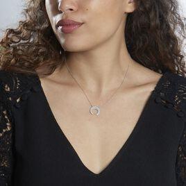 Collier Vaea Argent Blanc - Colliers Lune Femme   Histoire d'Or