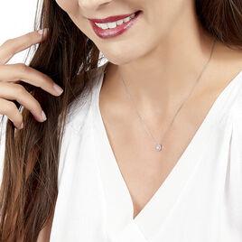 Collier Natacha Or Blanc Diamant - Bijoux Femme | Histoire d'Or