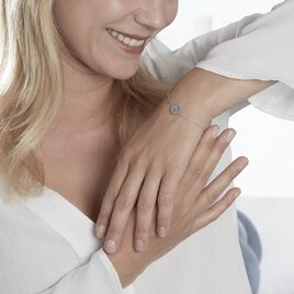 Bracelet Bangkok Argent Blanc Oxyde De Zirconium - Bracelets Zodiaque Femme   Histoire d'Or