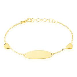 Bracelet Identité Helee Coeur Or Jaune - Bracelets Coeur Enfant | Histoire d'Or
