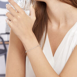 Bracelet Nateba Argent Blanc - Bracelets Coeur Femme | Histoire d'Or