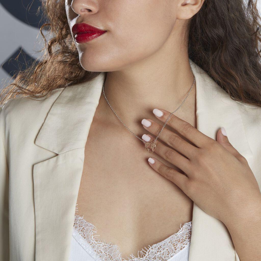 Collier Argent Bicolore Toyo - Colliers Coeur Femme | Histoire d'Or