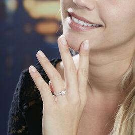 Bague Julia Or Blanc Diamant Synthetique - Bagues solitaires Femme   Histoire d'Or