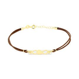 Bracelet Cally Or Jaune Nacre - Bracelets Coeur Femme | Histoire d'Or