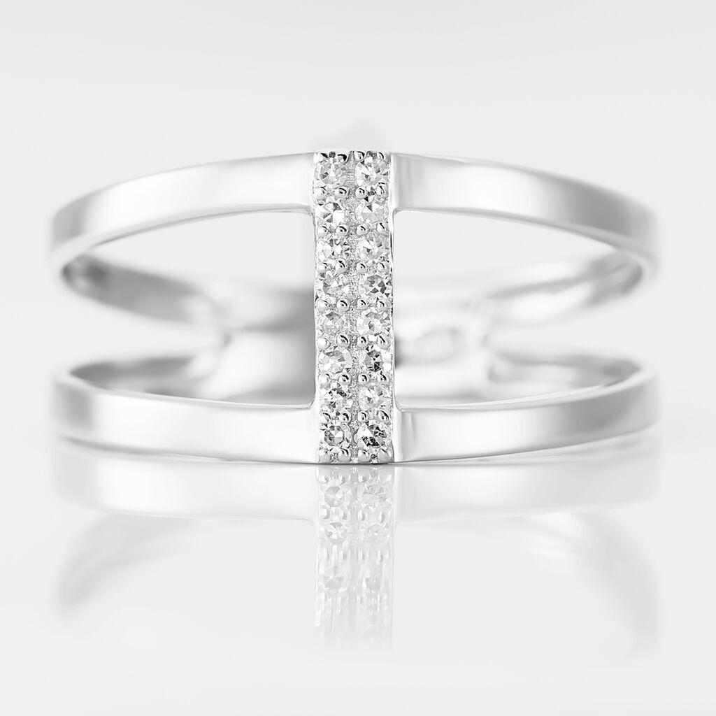 Bague Deborah Or Blanc Diamant - Bagues avec pierre Femme | Histoire d'Or