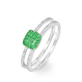 Bague Aude Or Blanc Grenat Et Diamant - Bagues avec pierre Femme   Histoire d'Or