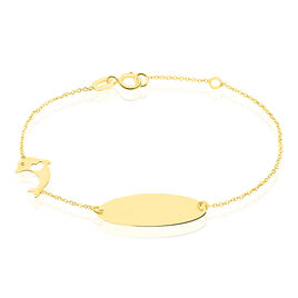 Bracelet Identité Helee Dauphin Or Jaune - Bracelets Communion Enfant | Histoire d'Or