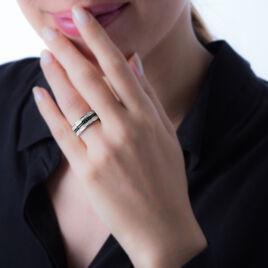 Bague Kelyan Argent Blanc Oxyde De Zirconium - Bagues avec pierre Femme   Histoire d'Or