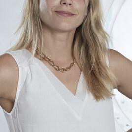 Collier Justinien Acier Doré - Colliers fantaisie Femme   Histoire d'Or