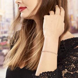 Bracelet Daralea Argent Tricolore - Bracelets fantaisie Femme | Histoire d'Or