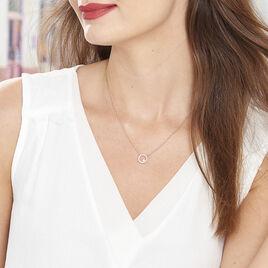 Collier Lila Plaque Or Jaune Oxyde De Zirconium - Colliers fantaisie Femme | Histoire d'Or