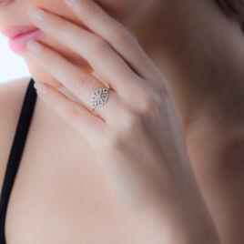 Bague Claire-cecile Or Blanc Diamant - Bagues avec pierre Femme   Histoire d'Or