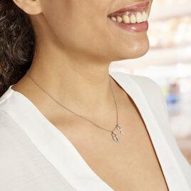 Collier Argent Blanc Kenocha - Colliers Coeur Femme | Histoire d'Or