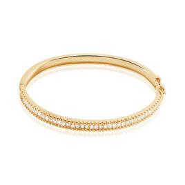 Bracelet Jonc Marie-baptistine Plaque Or Jaune Oxyde De Zirconium - Bracelets joncs Femme | Histoire d'Or