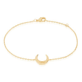 Bracelet Ginia Plaque Or Jaune - Bracelets fantaisie Femme | Histoire d'Or