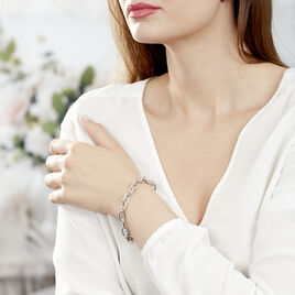 Bracelet Argent Rhodie Maille Marine - Bijoux Femme | Histoire d'Or