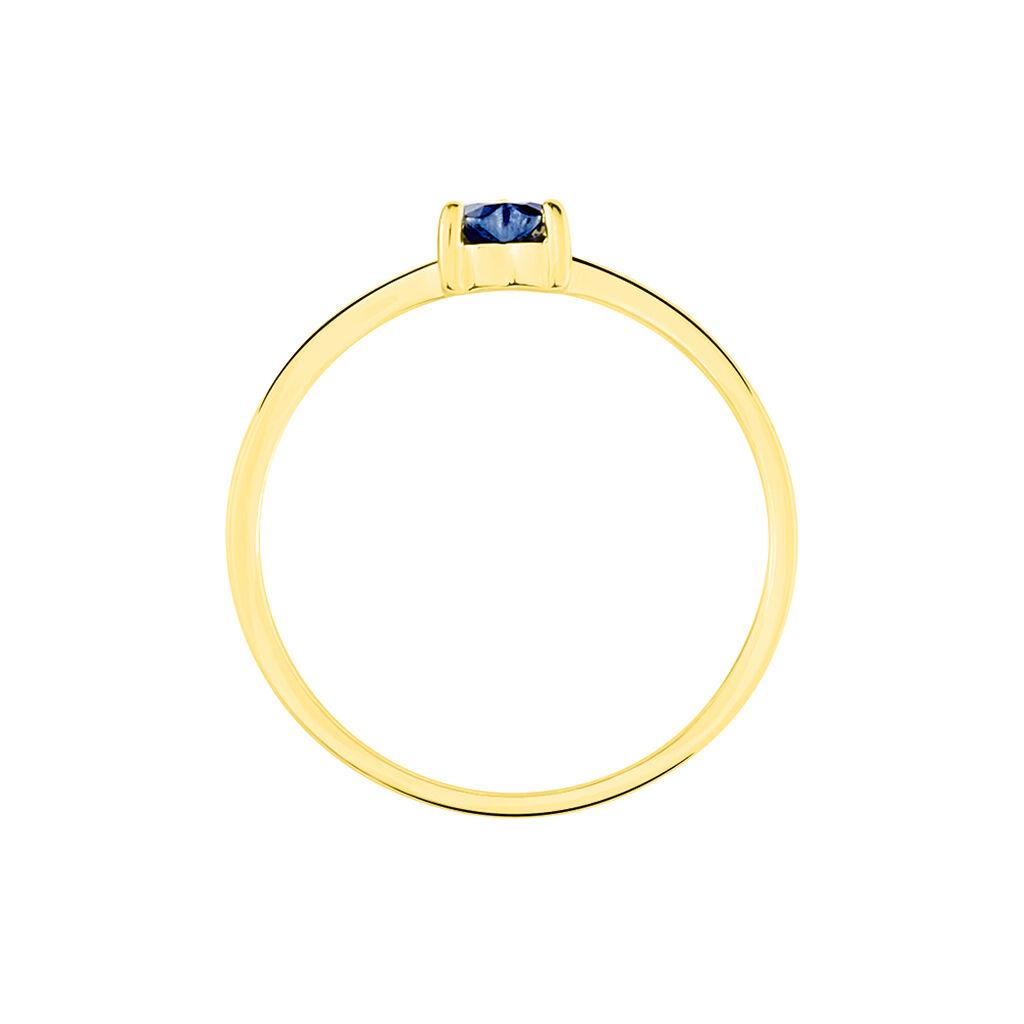 Bague Lissounia Or Jaune Saphir - Bagues Coeur Femme | Histoire d'Or