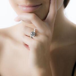 Bague Fanelia Argent Blanc Perle D'imitation - Bagues avec pierre Femme | Histoire d'Or