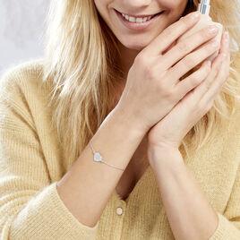 Bracelet Wandeline Argent Blanc - Bracelets Plume Femme | Histoire d'Or