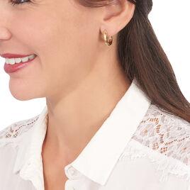 Créoles Yori Torsadees Or Jaune - Boucles d'oreilles créoles Femme   Histoire d'Or