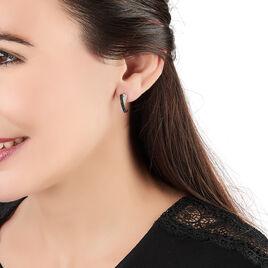 Boucles D'oreilles Pendantes Lucia Argent Blanc Oxyde De Zirconium - Boucles d'oreilles créoles Femme | Histoire d'Or