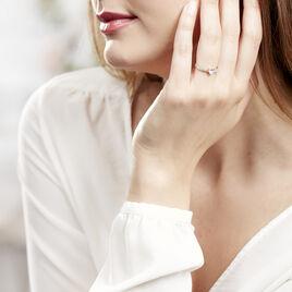 Bague Monelle Or Jaune Oxyde De Zirconium - Bagues Coeur Femme   Histoire d'Or