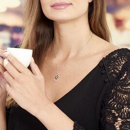 Collier Liyana Argent Blanc Oxyde De Zirconium - Colliers fantaisie Femme   Histoire d'Or