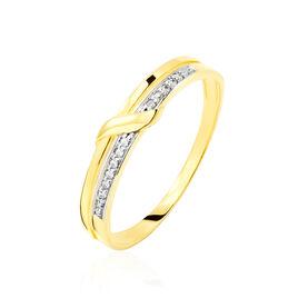 Bague Daynis Or Jaune Diamant - Bagues avec pierre Femme | Histoire d'Or