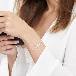 Bracelet Dorina Argent Blanc Perle De Culture - Bracelets fantaisie Femme | Histoire d'Or