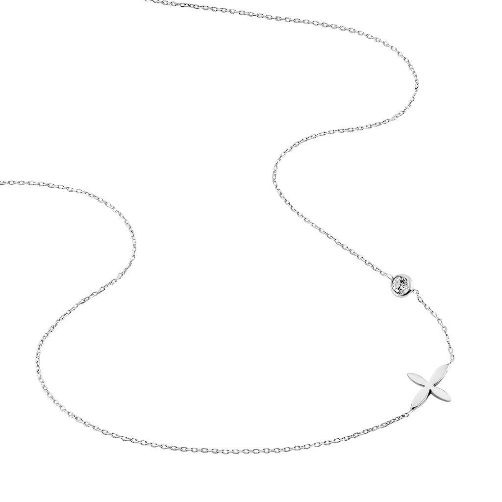 Collier Rosalia Argent Blanc Oxyde De Zirconium - Colliers fantaisie Femme | Histoire d'Or