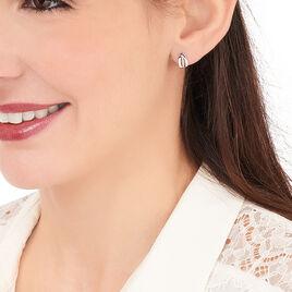 Boucles D'oreilles Puces Aelis Or Blanc Diamant - Clous d'oreilles Femme | Histoire d'Or