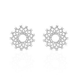 Boucles D'oreilles Puces Sunny Argent Blanc Oxyde De Zirconium - Clous d'oreilles Femme | Histoire d'Or