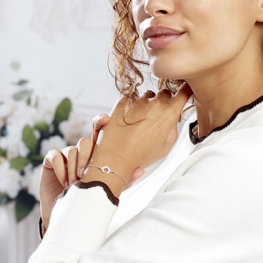Bracelet Vaea Argent Blanc - Bracelets Lune Femme | Histoire d'Or