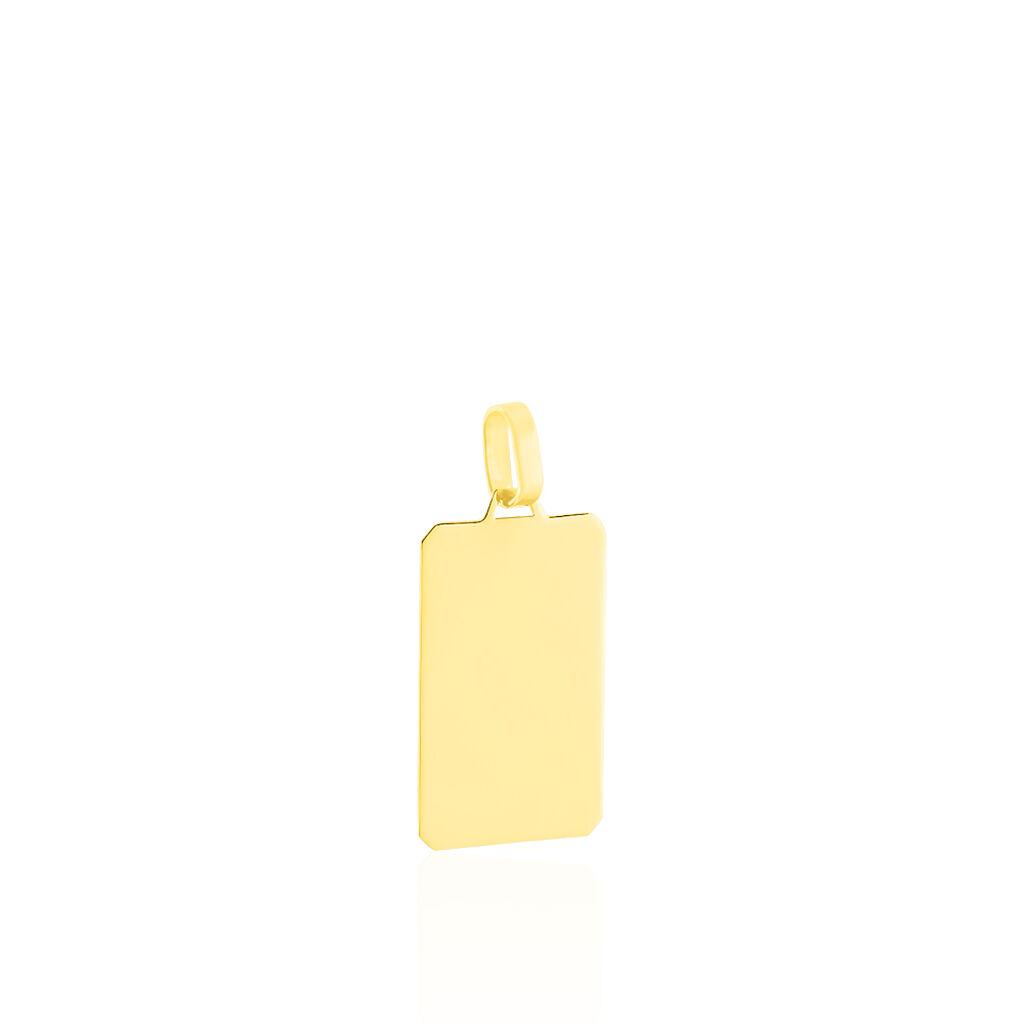 Pendentif Sirona Plaque Or Jaune - Pendentifs Unisexe   Histoire d'Or