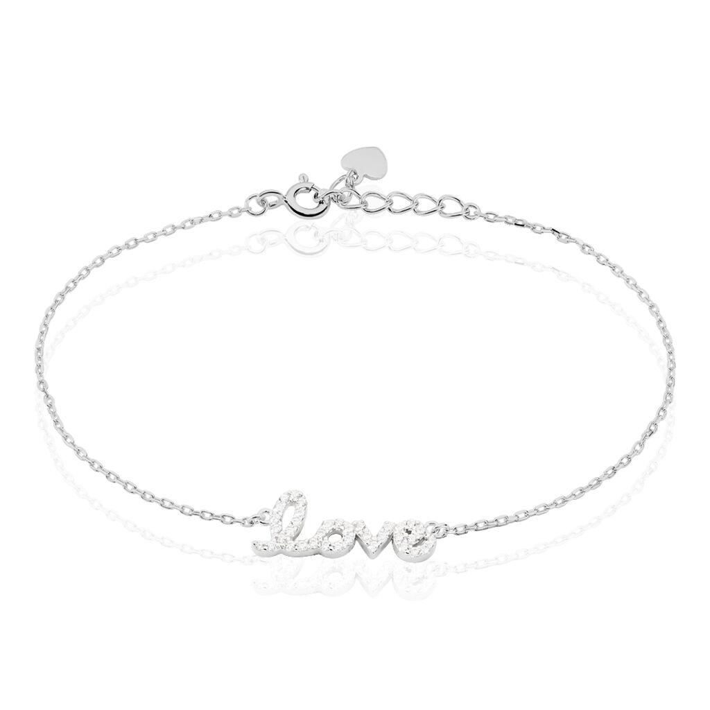 Bracelet Elly Argent Blanc Oxyde De Zirconium - Bracelets fantaisie Femme | Histoire d'Or