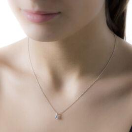 Collier Anne-michelle Or Blanc Diamant - Bijoux Femme   Histoire d'Or