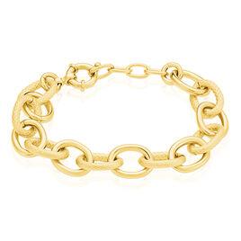Bracelet Aelia Maille Alternee Acier Jaune - Bracelets fantaisie Femme | Histoire d'Or